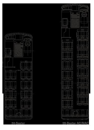 Tata Starbus 36 CNG Plan View