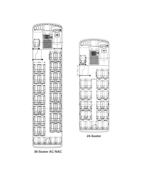 Tata Starbus 24 CNG Plan View