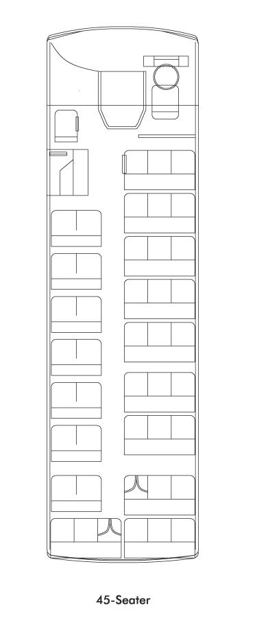 Tata Cityride Buses 45 Plan View
