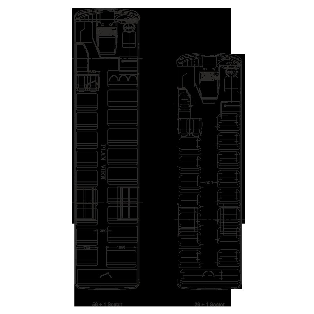 Tata Starbus Ultra Skool 38 Plan View