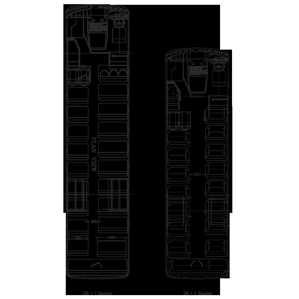 Tata Starbus Ultra Skool 38 AC Plan View