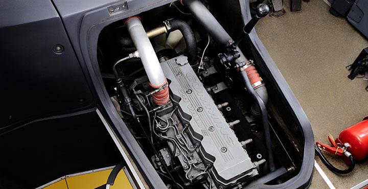 Tata Magna Bus Engine View