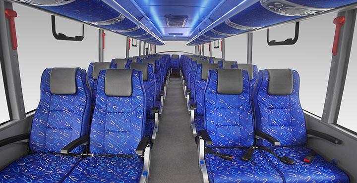Tata Bus Spacious Interior View