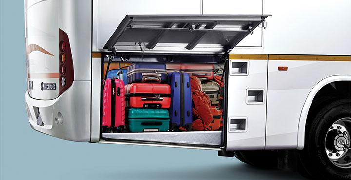 Tata Bus Luggage compartment