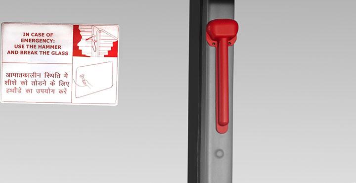 Tata Magna Bus Emergency Hammer