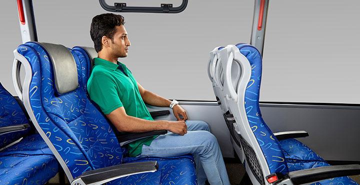 Tata Magna Bus Comfortable seat
