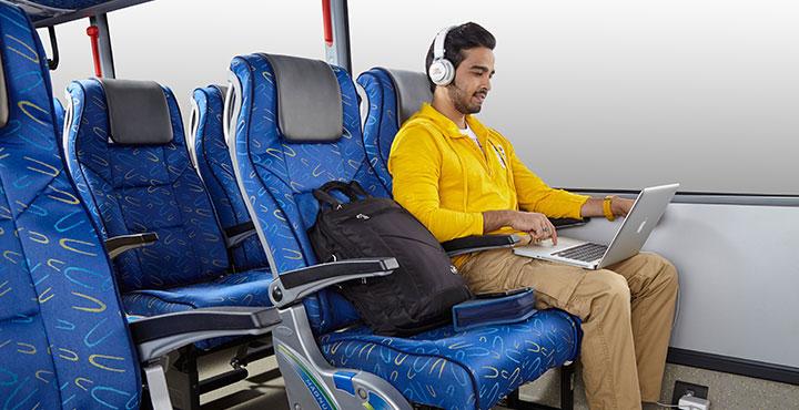 Tata Magna bus Spacious Seats