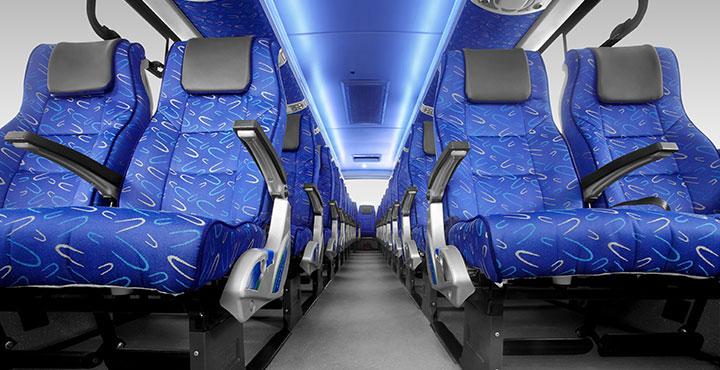 Tata Magna Bus Interior Low Angle