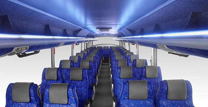 Tata Magna Bus Full Interior view