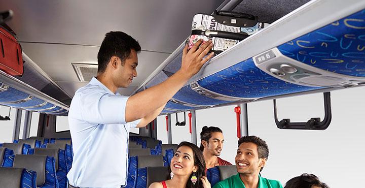 Tata Magna Bus Luggage Space