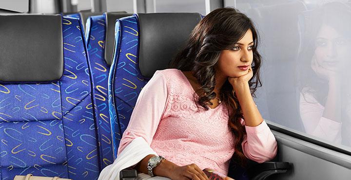 Tata Magna Bus Passenger window view