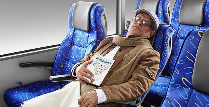 Tata Buses Comfortable seating
