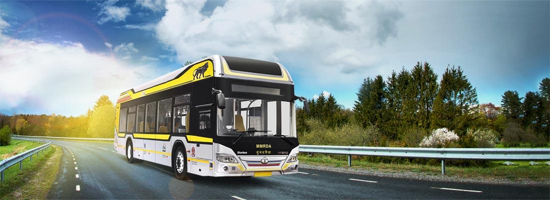 Tata Hybrid Buses RH view