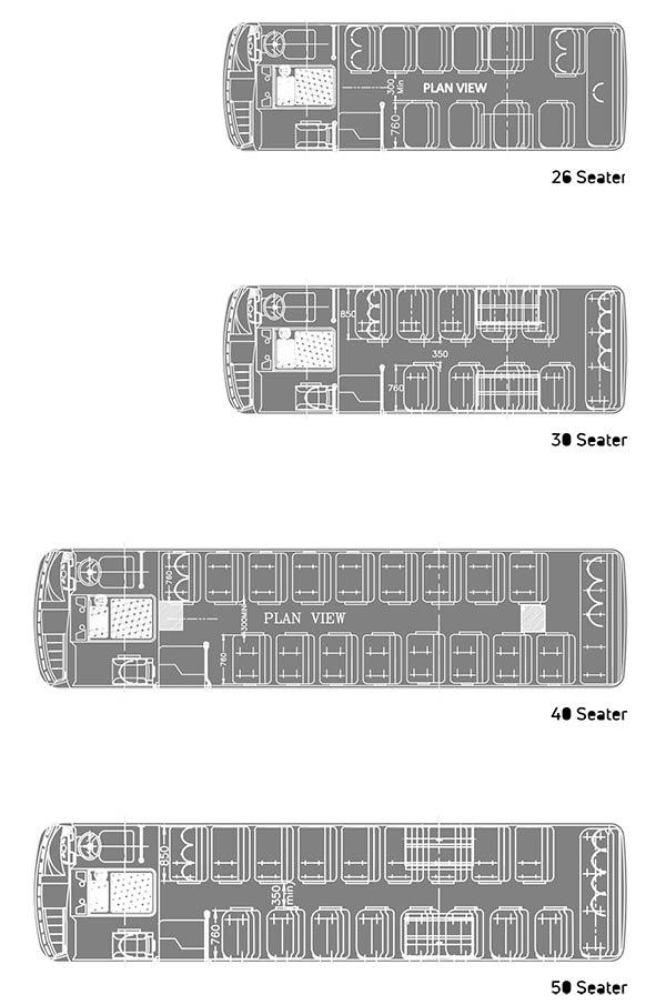 Tata Starbus Skool 26 CNG Plan view