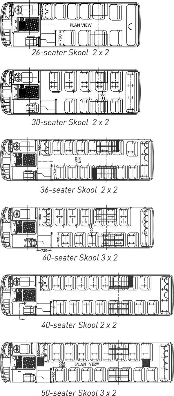 Tata Skool Buses Layout
