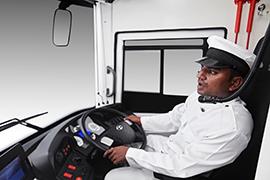 Tata Buses Driver Cabin