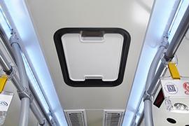 Tata Hybrid Bus Exit Ceiling