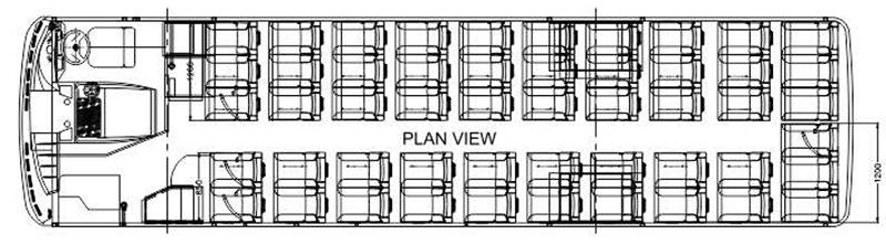 Tata Ultra Starbus 51 plan view