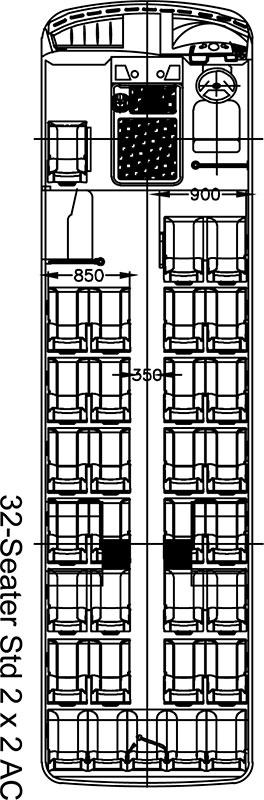 Tata Starbus 32 EX AC Layout