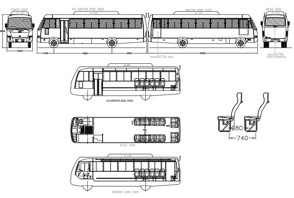 Tata Tarmac Coaches LP 913 Buses